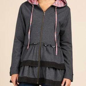 Matilda Jane Wise and Wonderful hoodie EUC small